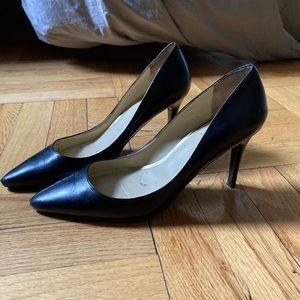 Ralph Lauren Pointed Toe Black Pumps - Size 7